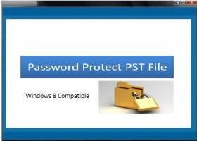 Password Protect PST File screenshot