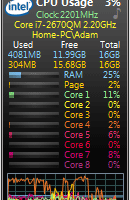 All CPU Meter screenshot
