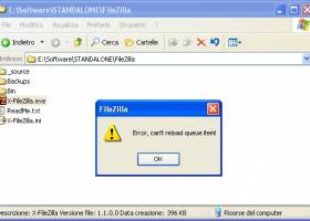 X-FileZilla screenshot