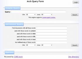 Arch Search Engine screenshot