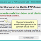 Windows Live Mal to PDF Converter