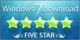 Free WAV MP3 Converter Freeware 5 star award at Windows 7 Download